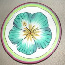 "Clay Art Stonelite Bread And Butter Plate Hibiscus Pattern 6-1/2"" Excellent"
