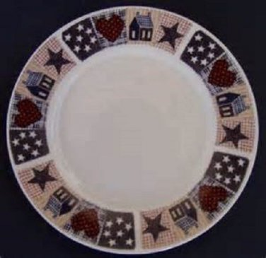 "Majesticware by Oneida American Quilt 7-3/4""  Salad Plate"
