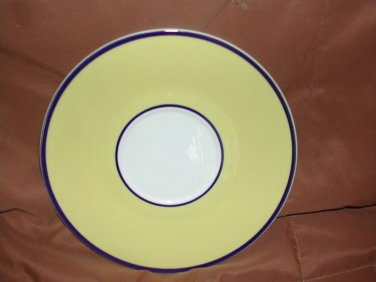 Plates Pagnossin SPA Bright Yellow & Navy Salad /Dessert / Lunchoen Plate 7""