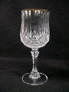 CRIS D'ARQUES Durand Crystal Longchamp Pattern Wine Glass/Goblet 7-1/4""