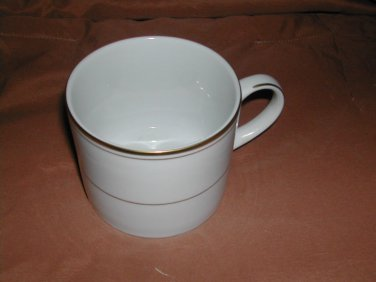Infinity by MUIRFIELD CHINA Flat Cup Gold Trim & Bands Excellent