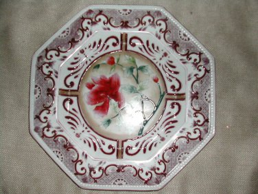 NWT Large Oriental Accent Decorative Hexagonal Plate 10-1/2""