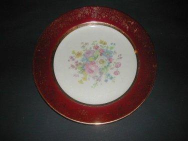 "Vintage  CENTURY BY SALEM China 23K Encrusted Gold Dinner Plate 10"""