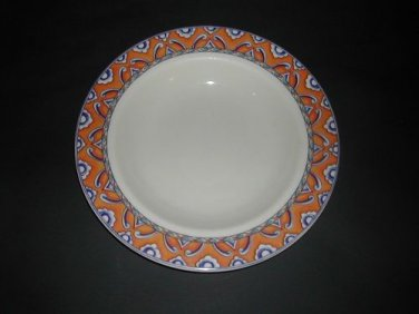 "Homer Laughlin SAN REMO Pasta Serving Bowl 11 1/8"" Blue Orange"