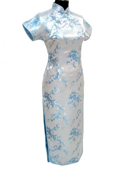 Light Blue Clubs Chinese Dress Cheong-sam/Qipao