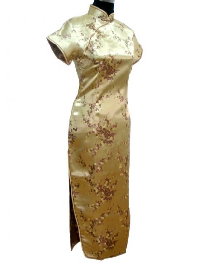 Golden Clubs Chinese Dress Cheong-sam/Qipao