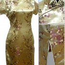 Golden Cute Clubs Mini Chinese Dress / Qipao