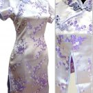 Lavender Cute Clubs Mini Chinese Dress / Qipao