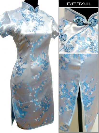 Bluey Cute Clubs Mini Chinese Dress / Qipao