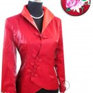 Red Fashion Style Embroiders Chinese Jacket