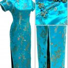 Lake Blue Chinese Dress Evening Gown [CDL-03LB]