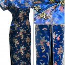 Blue Grace Chinese Dress Evening Gown [CDL-03BE]