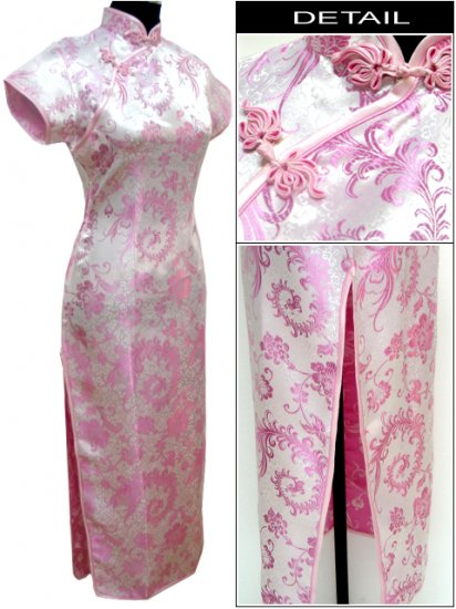 Pink Grace Phenix tail Chinese Dress Evening Gown [CDL-04PK]