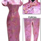 Pink Grace Chinese Dress Evening Gown [CDL-03PK]