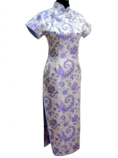 Lavender  Phonix tail Chinese Dress Evening Gown  [CDL-04LR]