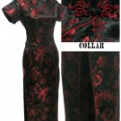 Black  Grace Phenix tail Chinese Dress Evening Gown [CDL-04BK]