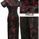 Black  Grace Phenix tail Chinese Dress Evening Gown [CDL-04BK]