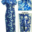 Blue Grace Phenix tail Chinese Dress Evening Gown [CDL-04BL]