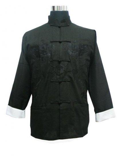 Black Chinese Dragon Kung-fu Jacket [CMJ-01BK]