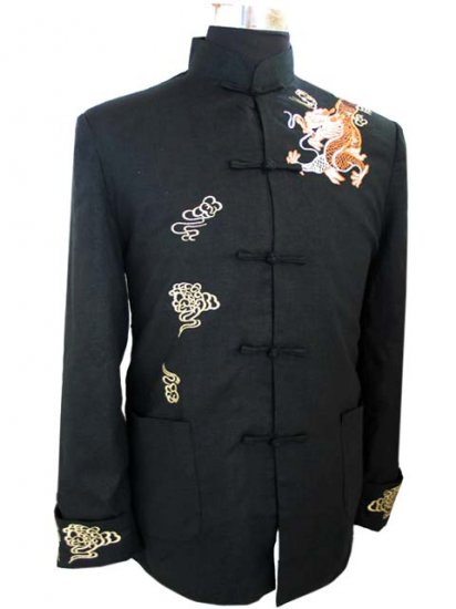 Black Noble Chinese Traditional Shirt [CMS-06BK]