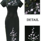 Black Grace  Club Embroidered  Dress Evening Gown [CLD-07BK]
