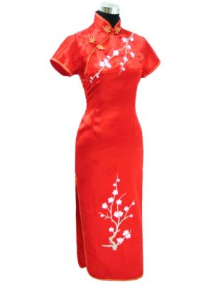 Red Grace Club Embroidered Dress Evening Gown [CLD-07RD]