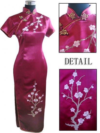 Burgundy Grace Club Embroidered Dress Evening Gown  [CLD-07BY]