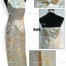 Gold Vogue Chinese Dress Backless Gown[CDL-05GD]
