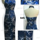 Navy Blue Vogue Chinese Dress Backless Gown[CDL-05NY]