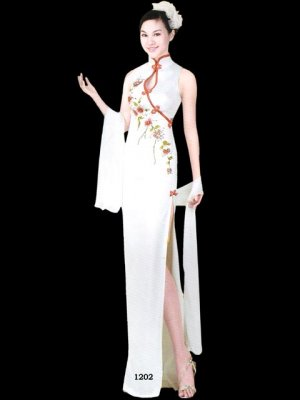 Chinese Tradition Customer Made Embroider Evening Dress [CDC-07]