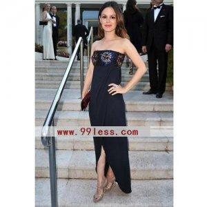 Rachel Bilson Sheath/ Floor-length Sleeveless Chiffon/  Cannes Film Festival/Evening Dress