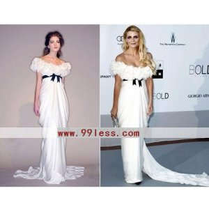 Mischa Barton Sheath/Sleeveless Elastic Silk-like Satin/Chiffon Cannes Film Festival/Evening Dress