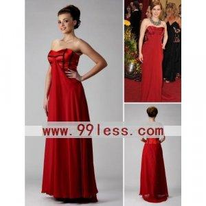 The 81st Oscar Amy Adams Column Sweetheart Evening Dress