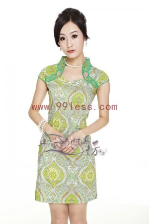 Beautiful Chinese Dress For Summer-Green,pink