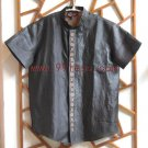 Men's Simple Chinese Shirt Black