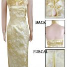 Chinese Backless Evening Gown Golden 9QIP-0130