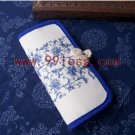 Chinese Purse With Blue Floral Pattern