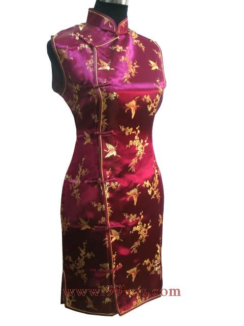 Clubs Chinese Wedding Dress Burgundy 9QIP-0167