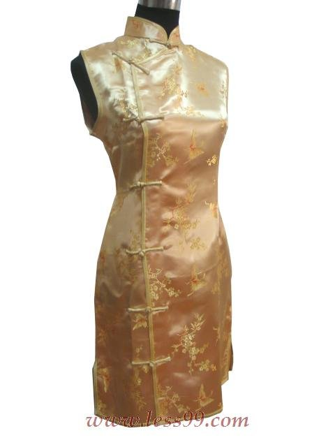Clubs Chinese Wedding Dress Golden 9QIP-0165 /Chinese Gown/Oriental Style Dresses