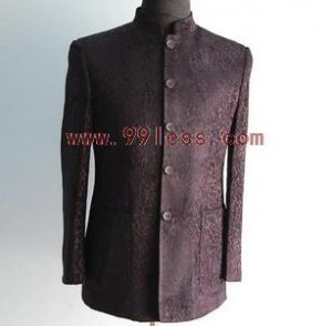 Men's Chinese Jacket Patterned with Shadow Leopard