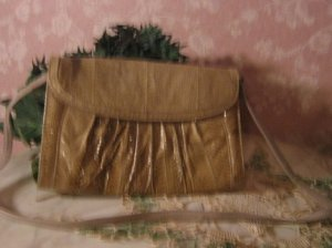 Vintage Snakeskin Clutch Purse ..Handbag ~ J.Rene gorgeous!