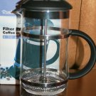 Trudeau Filter Press Coffee Maker 4-6 cup