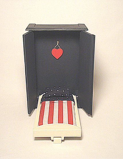 Adult-Size Murphy Bed--Flag Spread