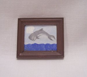 Folk Art Whale Painting