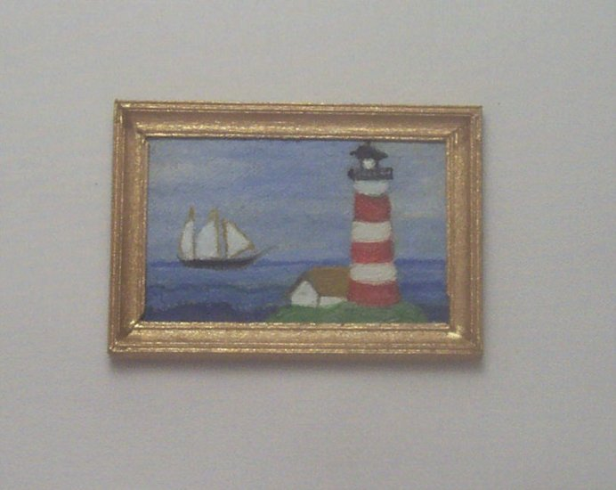Folk Art Lighthouse Painting
