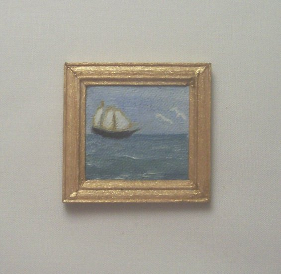 Folk Art Ship Painting