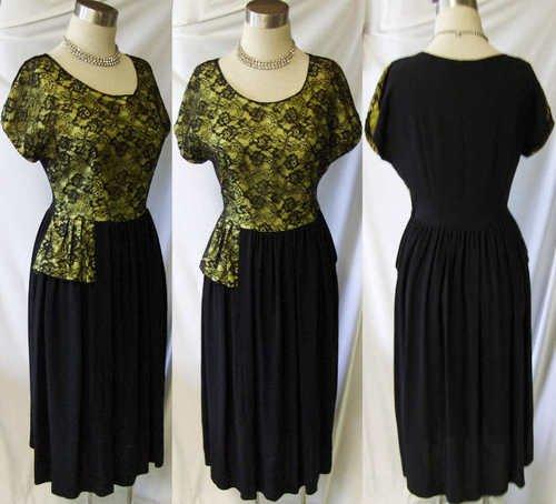 1940's Vintage cocktail dress - sold