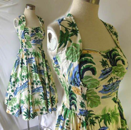 50s rockabilly dress halter