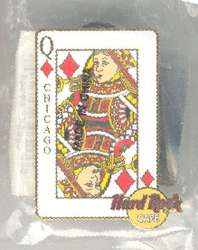 Chicago Queen of Hearts Pin