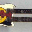 Chicago Doubleneck Guitar pin